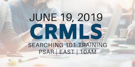 CRMLS: Searching 101 Training tickets