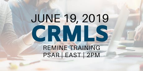 CRMLS: Remine Training tickets