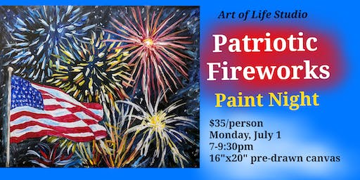 Paint Night: Patriotic Fireworks