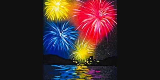 Fireworks Paint Night