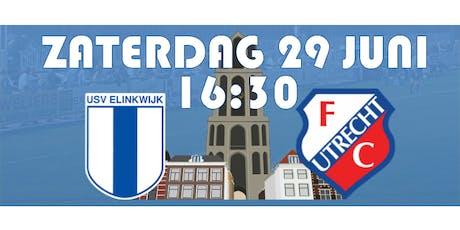 Jubileumwedstrijd Elinkwijk - FC Utrecht zaterdag 29 juni 2019 tickets