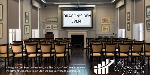 Exponential Dragon's Den & Investment Pitch Event October