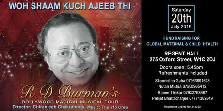Fundraising Bollywood musical evening: Woh Shaam Kuch Ajeeb Thi tickets