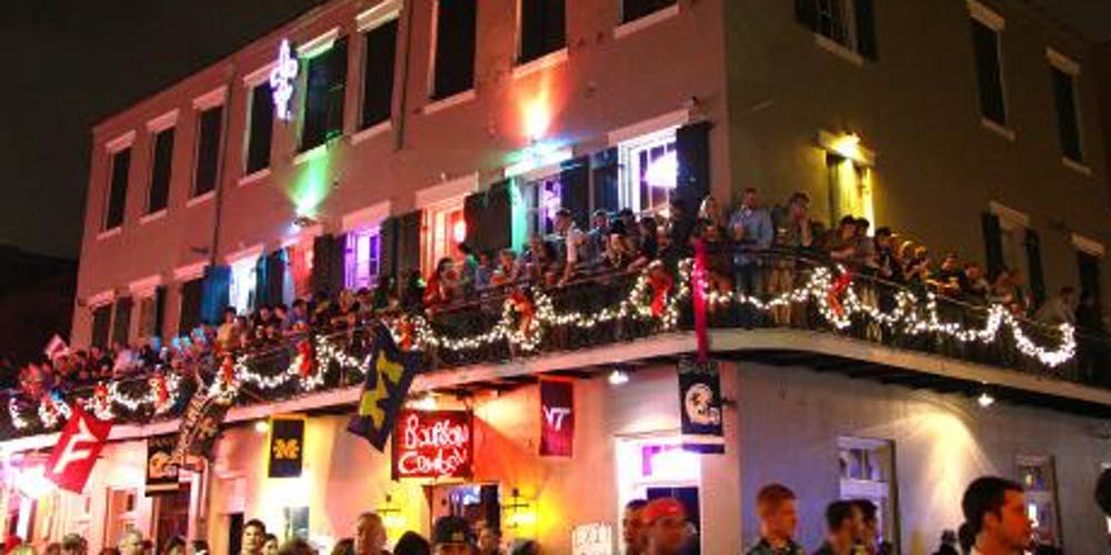 Halloween Balcony Party on Bourbon Street on map of excalibur, map of cherokee street, map of sodium street, map of hard rock, map of dunes, map of romance, map of new haven street, map of americana, map of julia street cruise terminal, map of st. charles avenue, map of louis armstrong park, map of driftwood, map of geary street, map of holiday, map of boulder station, map of harrah's, map of eclipse, map of sam's town, map of blue bayou water park, map of tchoupitoulas street,