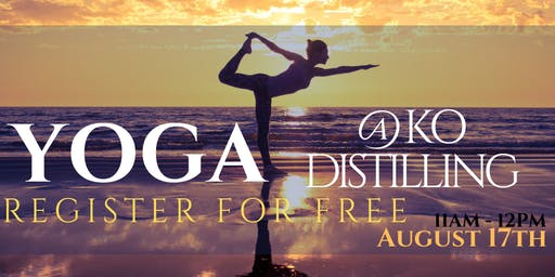 KO Distilling - Spirited Yoga August 2019 (FREE)