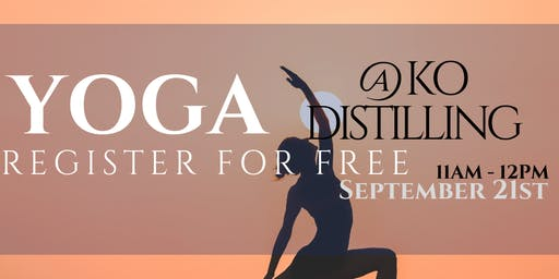 KO Distilling - Spirited Yoga September 2019 (FREE)