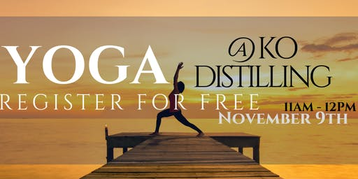KO Distilling - Spirited Yoga November 2019 (FREE)