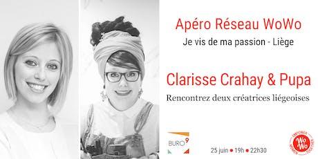 Apéro réseau VIP - Rencontrez deux créatrices liégeoises - l'Atelier Crahay & Pupa tickets