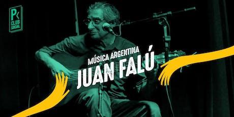 Juan Falú vuelve Al Picoteo Club Social entradas