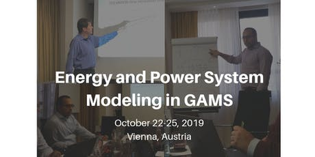 Energy and power system modeling in GAMS Tickets