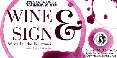 SC Indivisible Wine & Sign Postcards at Rosie McCann's 8.13.19