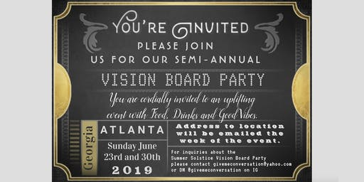 SUMMER SOLSTICE VISION BOARD PARTY