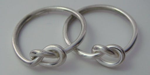 Sweet Silver Knot Rings