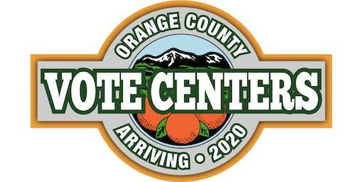 Roadshow to Vote Centers 2020: LWV & The Orange County Registrar of Voters
