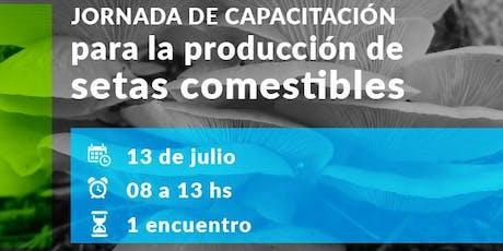 Jornada de Capacitación para la producción de Setas Comestibles entradas