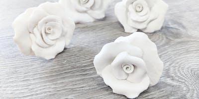 ***** pottery workshop - Porcelain Flowers.