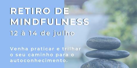 RETIRO DE MINDFULNESS (VIDA PLENA) - Opção duas diárias - Inscrição até 10/06 ingressos