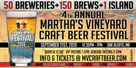 4th Annual Martha's Vineyard Craft Beer Festival tickets