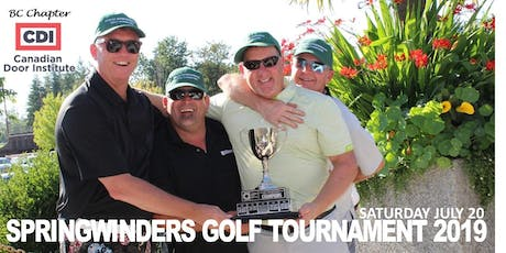 BC CDI SPRINGWINDERS GOLF TOURNAMENT 2019 tickets