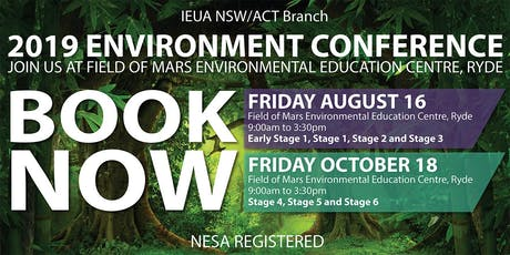 IEU Environment Conference 2019: Stage 4, Stage 5 and Stage 6 - Learning Outside the Classroom tickets