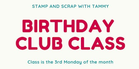 Birthday Club Class tickets