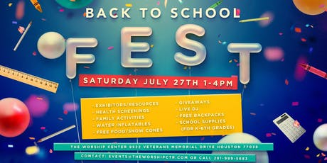 2019 TWC Back to School Fest tickets