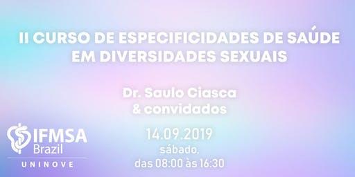 II Curso de Especificidades de Saúde em Diversidades Sexuais