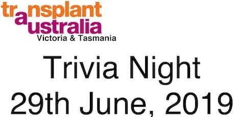 Transplant Australia - Trivia Night, Melbourne tickets