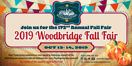 172nd Annual Woodbridge FALL FAIR 2019 tickets