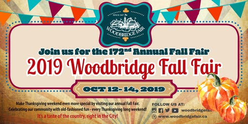 172nd Annual Woodbridge FALL FAIR 2019