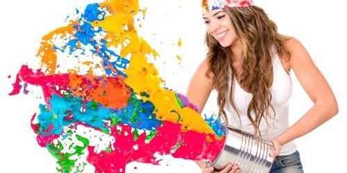 Playing with Happiness, A Paint Your Essence Workshop
