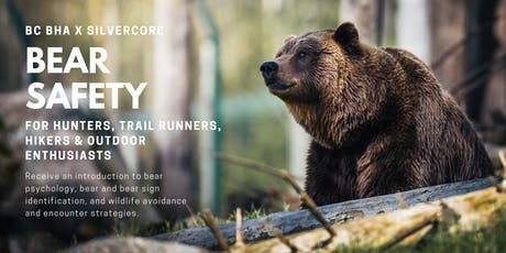 Bear Safety For Hunters, Trail Runners, Hikers, & Outdoor Enthusiasts tickets