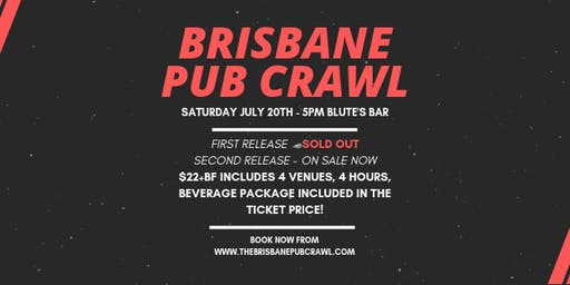 Brisbane Pub Crawl - Saturday July 20th