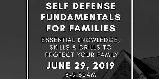 Self Defense Fundamentals for Families