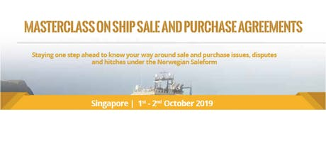 Masterclass on Ship Sale and Purchase Agreements tickets