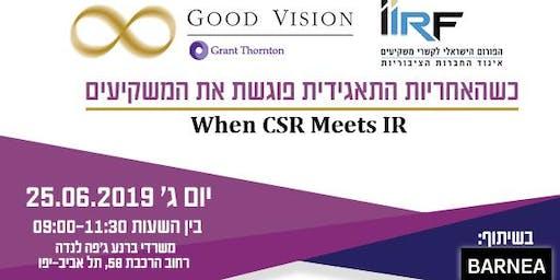 When CSR meets IR