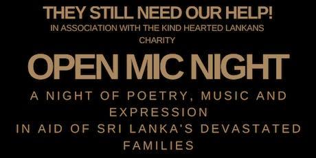 Open Mic Night for Sri Lanka tickets