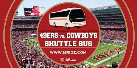 49ers vs. Cowboys Shuttle Bus to Levi's Stadium tickets