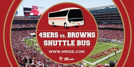 Levi's Stadium Shuttle Bus: 49ers vs. Browns