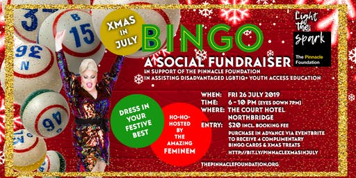 Xmas in July BINGO - A Social Fundraiser for the Pinnacle Foundation