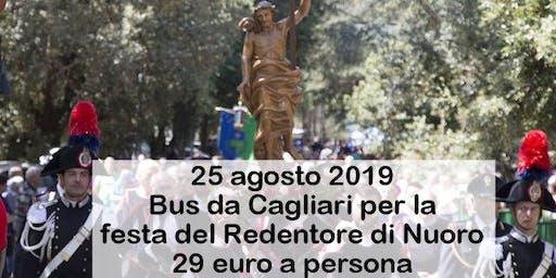 Bus da Cagliari per la festa del Redentore di Nuoro 2019