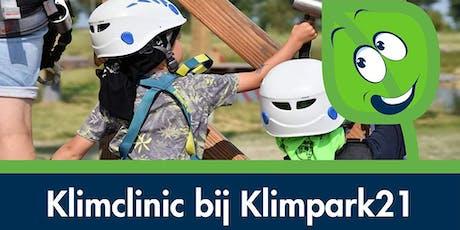 Klimclinic bij Klimpark21 tickets