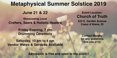 Metaphysical Summer Solstice Event - Vendor Fair & Drumming Ceremony