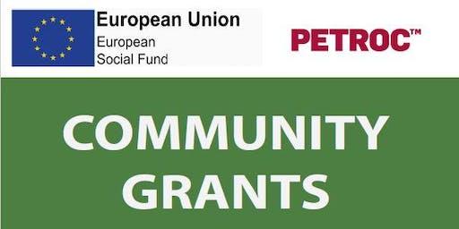 Community Grants Launch Event
