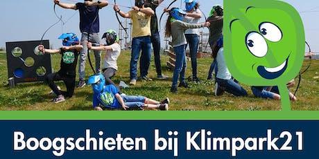 Boogschieten bij Klimpark21 tickets