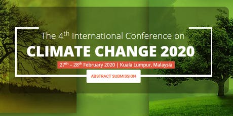 The 4th International Conference on Climate Change 2020 – (ICCC 2020) tickets