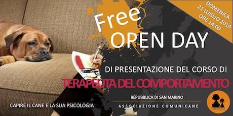 Corso di Terapeuta del Comportamento - Free Open Day biglietti