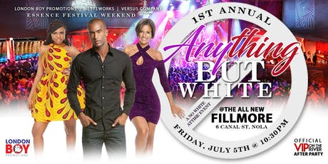 "Essence Festival ""Anything!..       but White"" Party tickets"