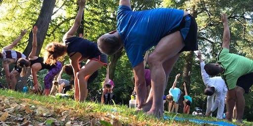 Yoga im Schlossgarten Karlsruhe