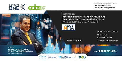 Presentación del Máster en Mercados Financieros e Inversiones Alternativas